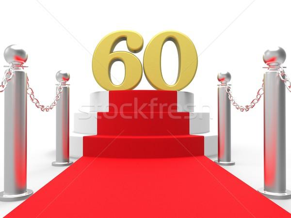 Gouden zestig rode loper Films films Stockfoto © stuartmiles