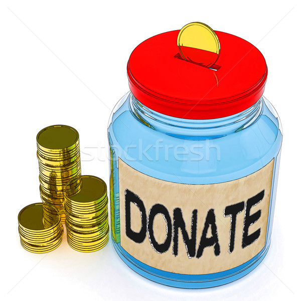 Donate Jar Means Fundraiser Charity Or Giving Stock photo © stuartmiles