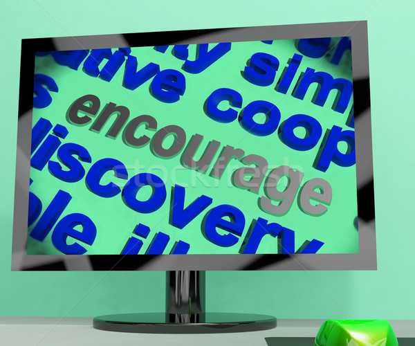 Encourage Word Screen Means Motivation Inspiration And Support Stock photo © stuartmiles