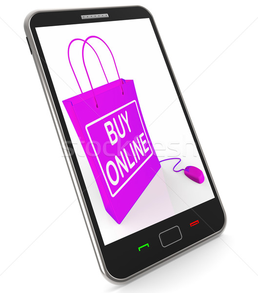 Buy Online Phone Shows Internet Availability for Buying and Sale Stock photo © stuartmiles