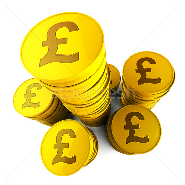 Pound Savings Means Financial Increase And Currency Stock photo © stuartmiles