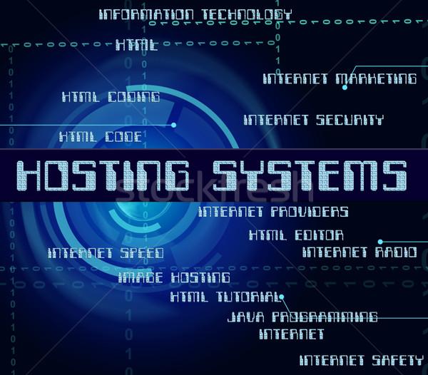 Hosting internet computer tecnologia parola Foto d'archivio © stuartmiles