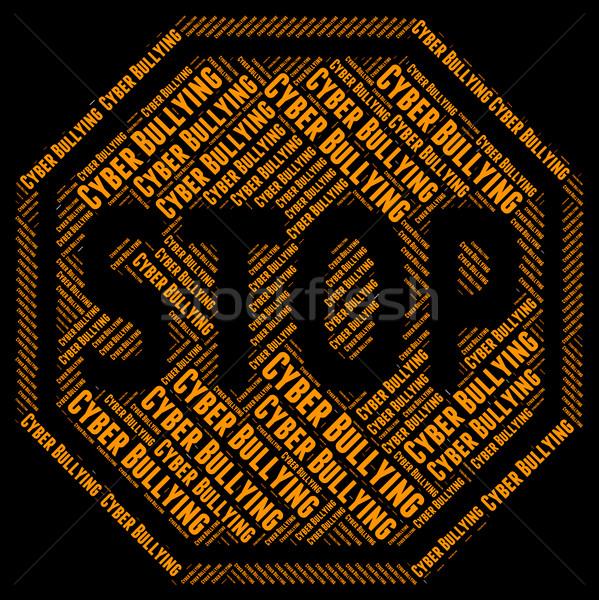 остановки всемирная паутина осторожность чистой Сток-фото © stuartmiles