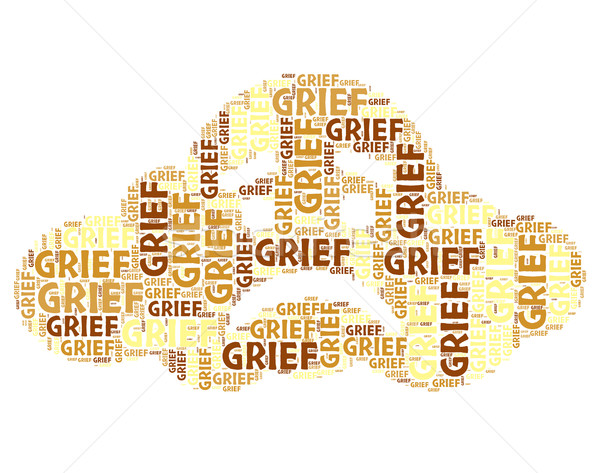 Grief Word Means Broken Hearted And Angst Stock photo © stuartmiles