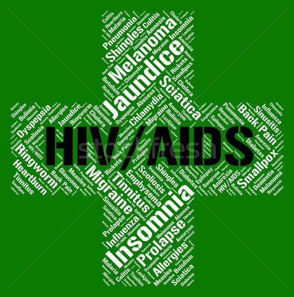 Hiv Aids Represents Human Immunodeficiency Virus And Acquired Stock photo © stuartmiles