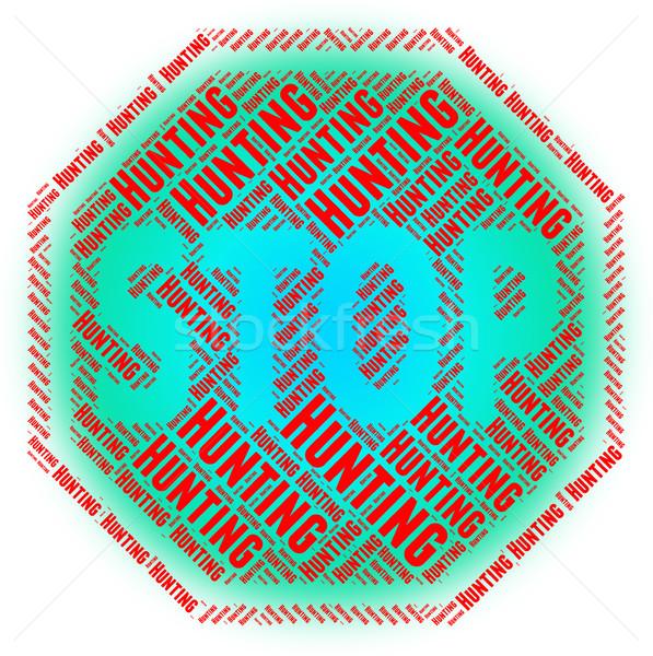 Arrêter chasse sang sport interdit Photo stock © stuartmiles