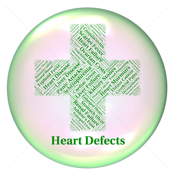 Heart Defects Means Anomaly Blemish And Errors Stock photo © stuartmiles