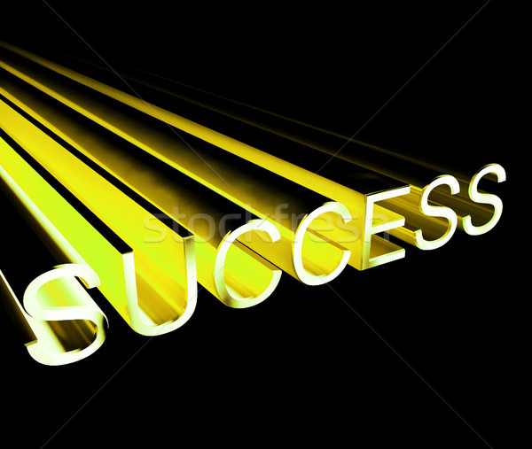 Success Text In Yellow And 3d As Symbol For Goals And Winning Stock photo © stuartmiles