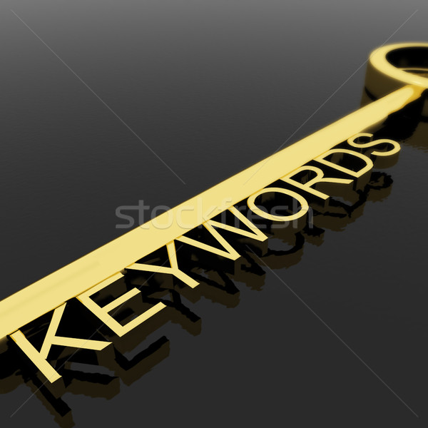 Clé texte symbole seo optimisation or Photo stock © stuartmiles