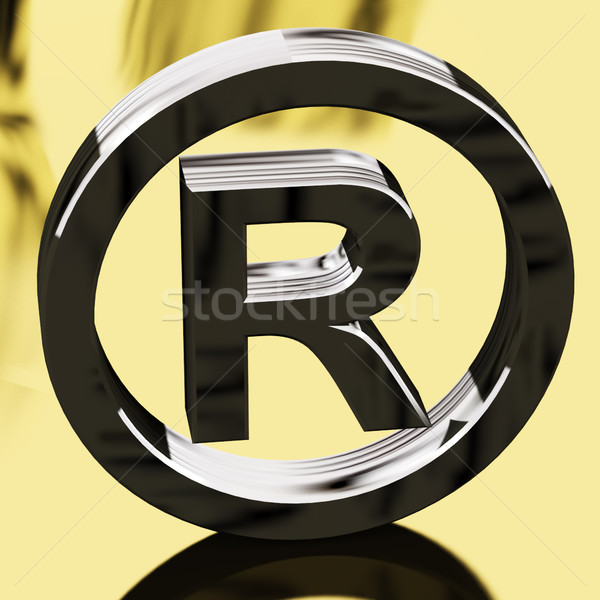 Silver Registered Sign Representing Patented Brands Stock photo © stuartmiles