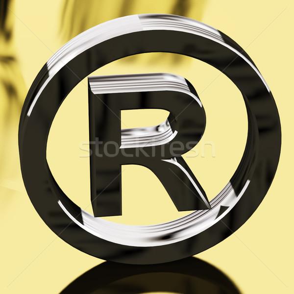 Zilver geregistreerd teken gepatenteerde goud bescherming Stockfoto © stuartmiles