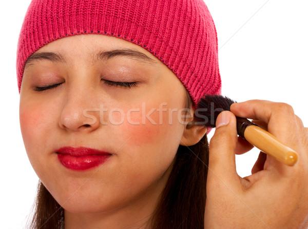 Applying Blusher Cosmetic Makeup Stock photo © stuartmiles