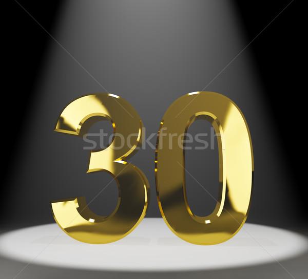 Or trente 3D nombre anniversaire Photo stock © stuartmiles