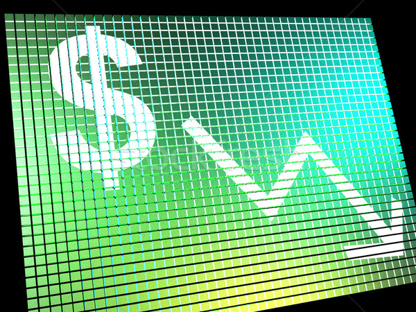 Dollar pijl beneden tonen depressie recessie Stockfoto © stuartmiles