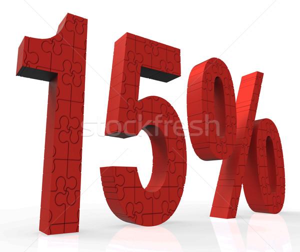 15 puzzle mutat eladó bónusz árak Stock fotó © stuartmiles
