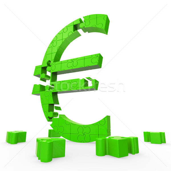 Euro Symbol Shows Financing In Europe Stock photo © stuartmiles