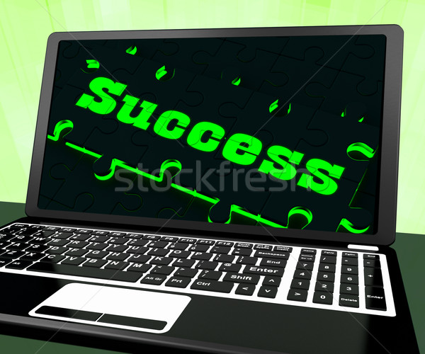 Success On Laptop Showing Solutions Stock photo © stuartmiles