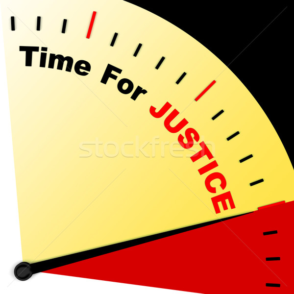 Temps justice un message droit punition Photo stock © stuartmiles