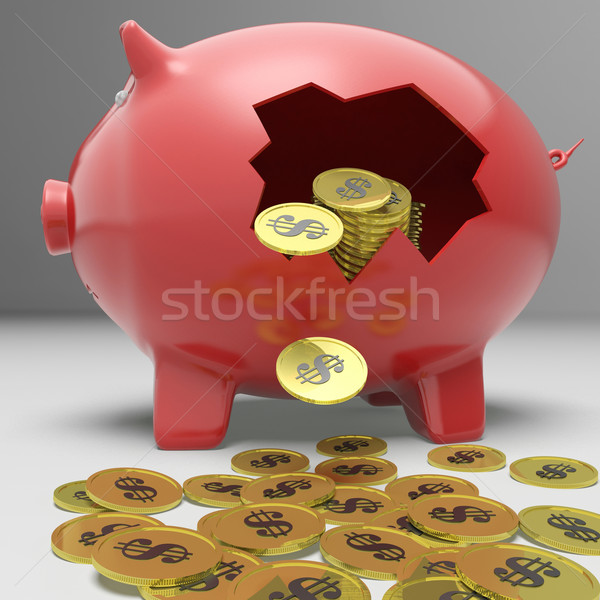 Brisé tirelire financière dépôt Finance dollar Photo stock © stuartmiles