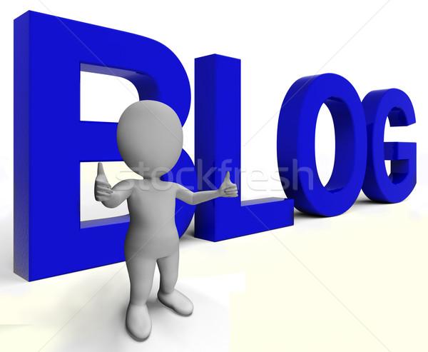 Blog mot blogger site blogging Photo stock © stuartmiles