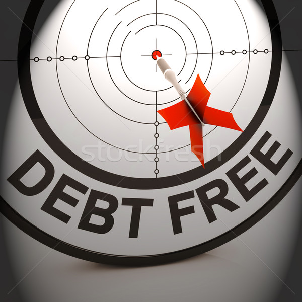 Debt Free Shows Cash And Credit Freedom Stock photo © stuartmiles