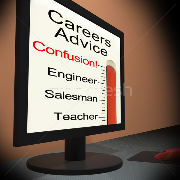 Careers Advice On Monitor Showing Guidance Stock photo © stuartmiles