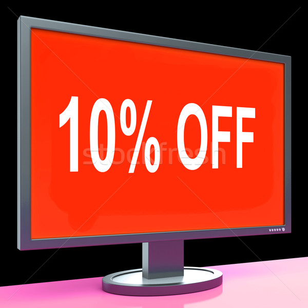 Ten Percent Off Monitor Means Discount Or Sale Online