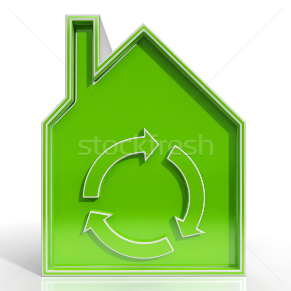Eco House Showing Environmentally Friendly Home Stock photo © stuartmiles
