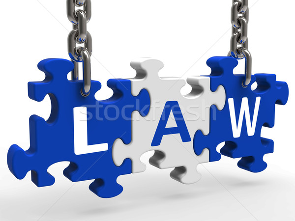 Law Puzzle Means Legally Lawful Statute Or Judicial