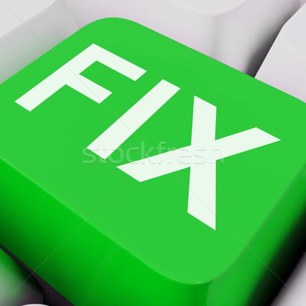 Fix Key Shows Repairing Fixing Or Mending Stock photo © stuartmiles