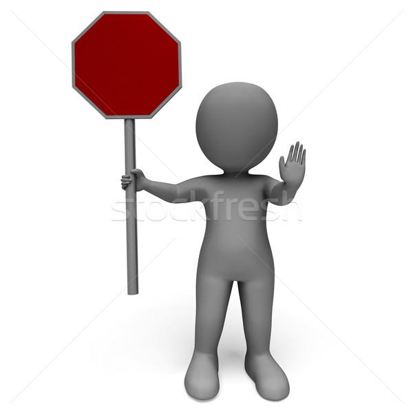Stopteken gevaar waarschuwing beperkt veiligheid stoppen Stockfoto © stuartmiles