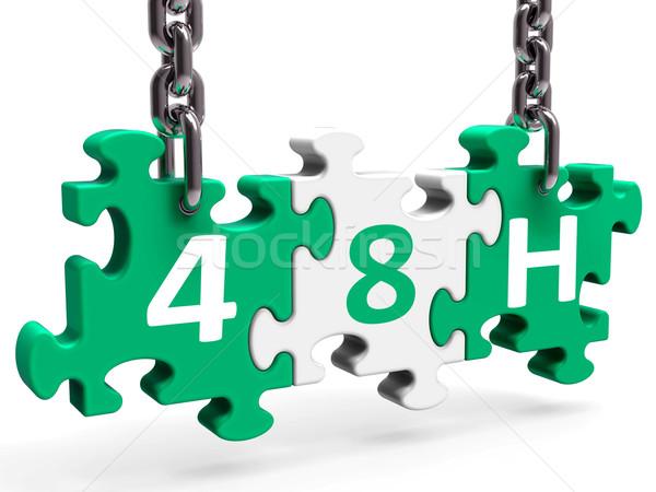Quaranta otto ora puzzle servizio Foto d'archivio © stuartmiles