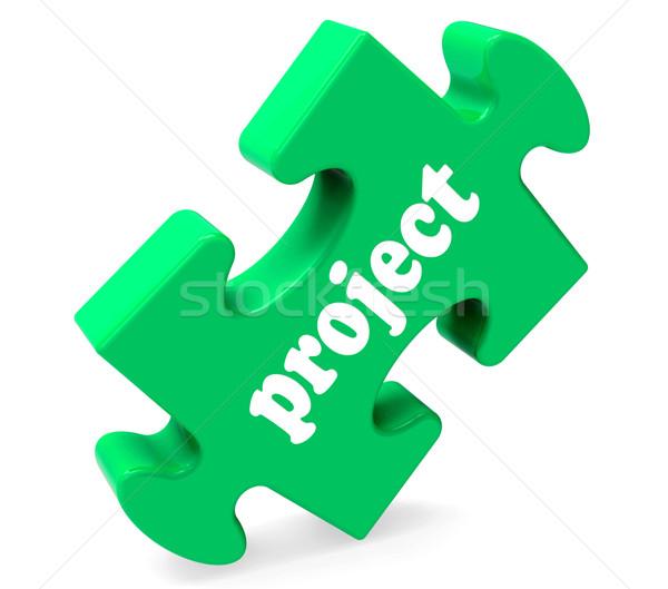 Proyecto rompecabezas planificación plan tarea Foto stock © stuartmiles