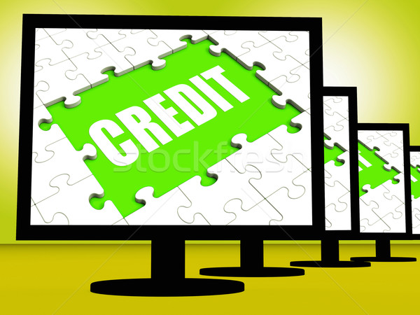 Credit Screen Shows Cashless Debt Or Loan For Purchasing Stock photo © stuartmiles
