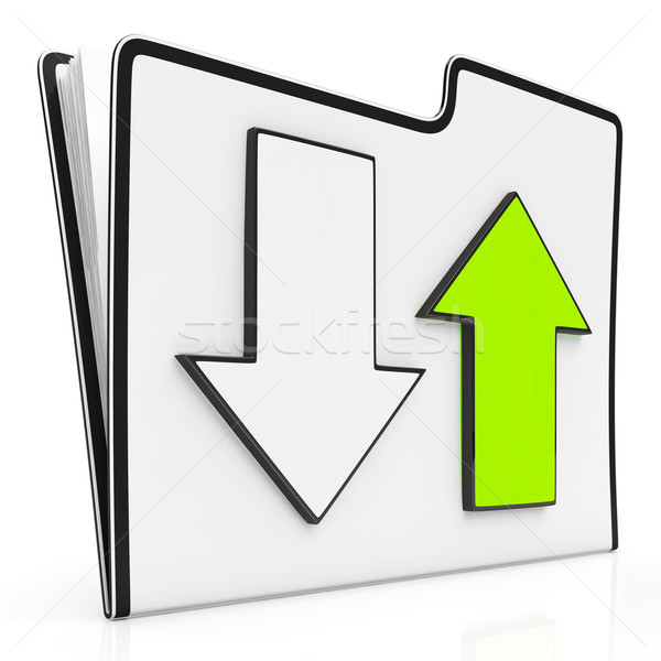Downloaden bestanden icon downloaden Stockfoto © stuartmiles