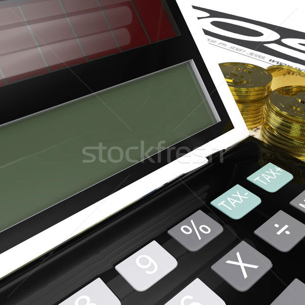 Blank Calculator Means Copyspace And Fill In Stock photo © stuartmiles