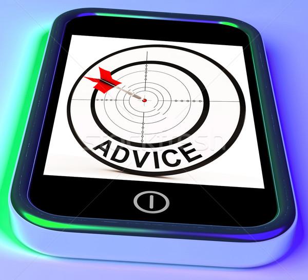 совет смартфон веб чаевые Сток-фото © stuartmiles
