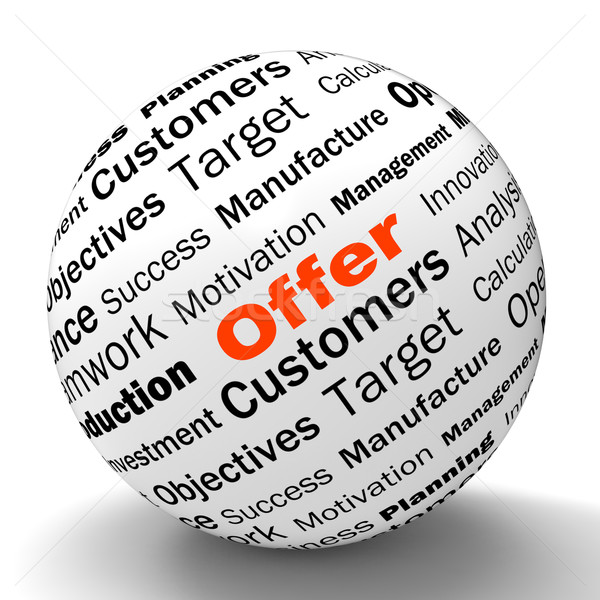 Stock photo: Offer Sphere Definition Shows Special Prices Or Promotions