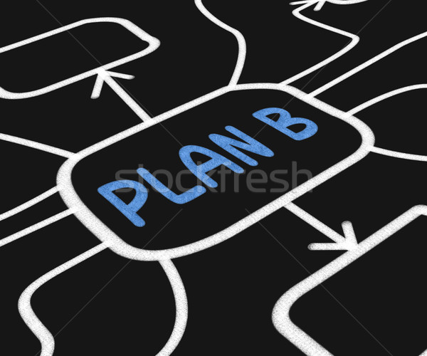 Plan B Diagram Shows Contingency Or Fallback Stock photo © stuartmiles