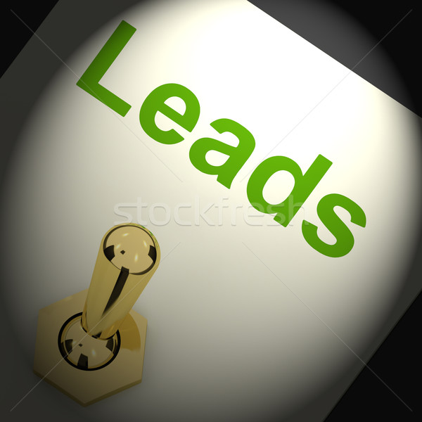 Leads Switch Means Lead Generation Or Sales Stock photo © stuartmiles