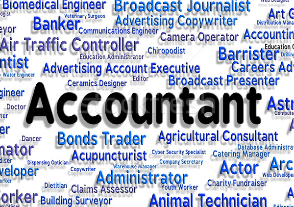Accountant Job Means Balancing The Books And Accounting Stock photo © stuartmiles