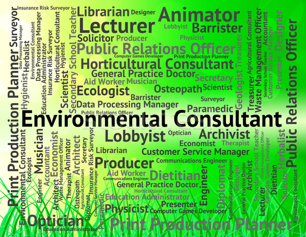 Environmental Consultant Means Environmentally Earth And Occupat Stock photo © stuartmiles
