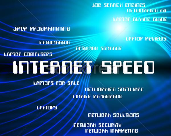 Internet vitesse world wide web rapide site réseau Photo stock © stuartmiles