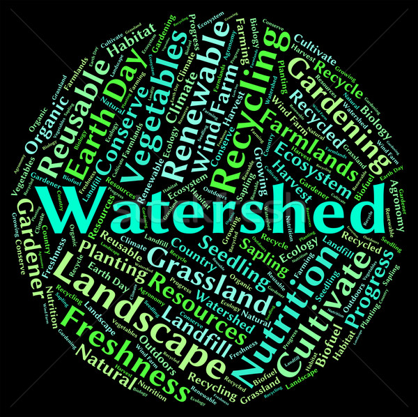 Watershed Word Shows River System And Drained Stock photo © stuartmiles