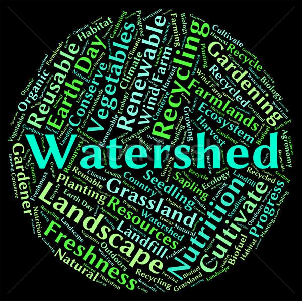 Słowo rzeki wody dziedzinie Zdjęcia stock © stuartmiles