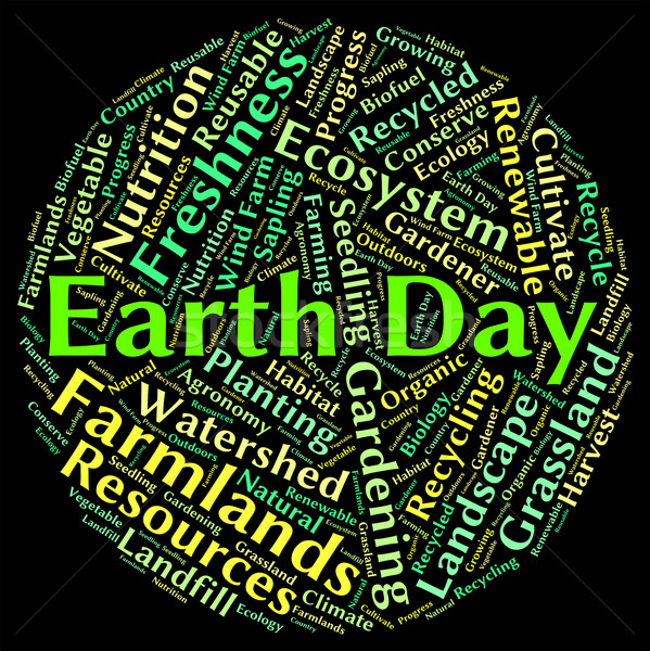 Dia da terra verde eco significado ambiente Foto stock © stuartmiles