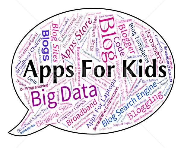 Apps For Kids Represents Application Software And Children Stock photo © stuartmiles