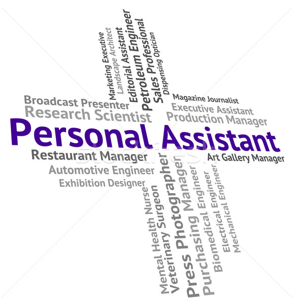 Personal Assistant Shows Jobs Employment And Secrecy Stock photo © stuartmiles
