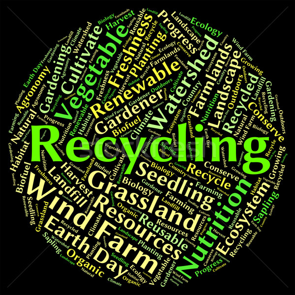 Recycling Word Shows Eco Friendly And Environmentally Stock photo © stuartmiles