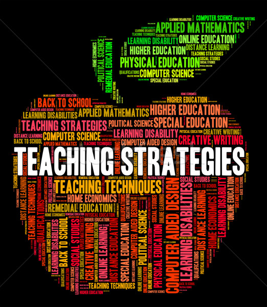 Teaching Strategies Represents Business Strategy And Coach Stock photo © stuartmiles